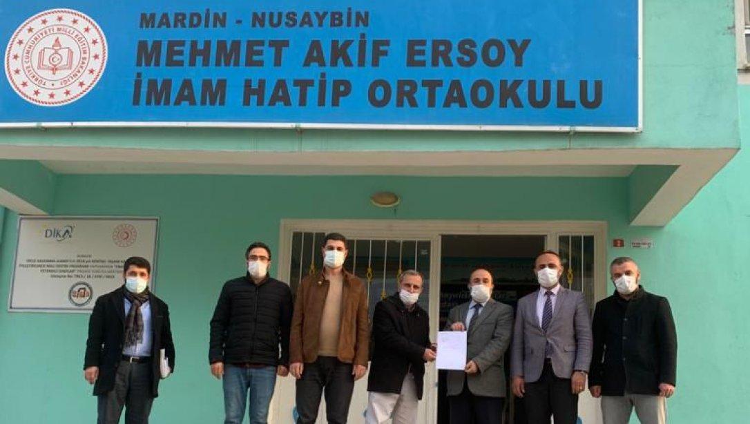 Türkiye Diyanet Vakfı tarafından Suriye'deki Evsiz Kalan Vatandaşlar İçin Yaptırılan İyilik Konutları İçin, Bir Yardımda İlçemiz Mehmet Akif Ersoy İmam Hatip Ortaokulu Öğretmen ve Velilerimiz Tarafından Yapıldı